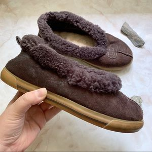 UGG Sherpa lined, suede leather flats
